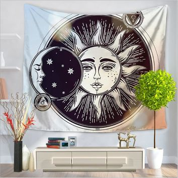 Indian Sun Tapestry Home Decor Wall Hanging Colorful Fabric Throw Bohemian Door Curtain Bedspread home decoration accessories