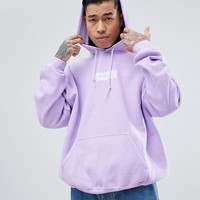 Crooked Tongues Hoodie In Overdye With Logo Print at asos.com