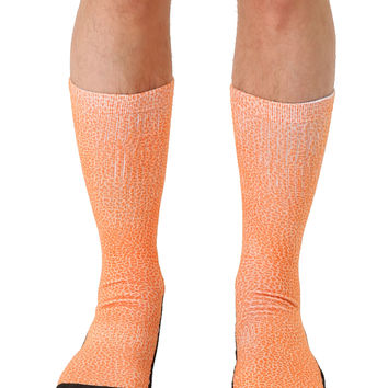 Pebble Orange Sport Socks