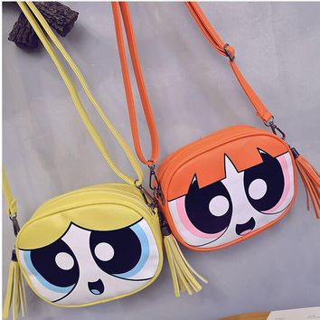5ec7c4c6a2 2016 100% high quality Powerpuff Girls cute fashion design chai. Item Type:  Handbags Model Number: Powerpuff Girls bag ...