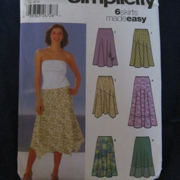 Spring Fever Sale UnCut Simplicity Sewing Pattern, 5503! Size 8-14, Small to Medium Women's, Skirts, Summer or Spring, Casual or Formal, Lon