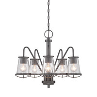 Designers Fountain Darby Weathered Iron Five Light Chandelier