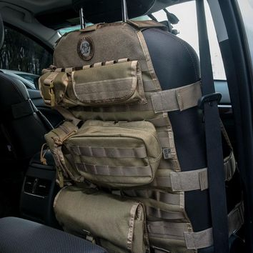 Tactical Molle Car Seat Covers With 6 Pouches