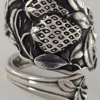Size 9 Vintage Sterling Silver Watson Spoon Ring