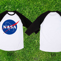 Limited Nasa Baseball T shirt, Raglan T shirt, Unisex T shirt, Adult T shirt