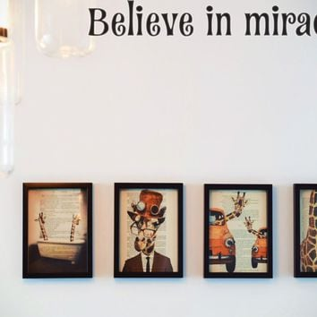 Believe in miracles Style 15 Die Cut Vinyl Decal Sticker Removable
