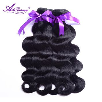 Brazilian Body Wave Hair Bundles 100% Human Hair Weave Natural Color Alidoremi Non Remy Hair 1 Piece 8-28 Inch Free Shipping