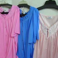Women's Pajamas By Miss Elaine In Sapphire Blue and Pink Punch // Vanity Fair Pajama Set In Prissy Pink