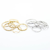 Multi stack rings set