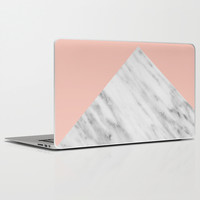 Pink Marble Collage Laptop & iPad Skin by Cafelab