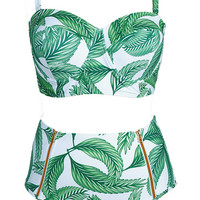 Cupshe Breezy Does It Leaves Bikini Set