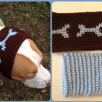 Crochet Dog Headbands Ear Warmers Set for large dogs - Crochet Dog Hat - Dog Winter Accessories - Dog Clothes - Dog Scarf - Pet Clothes