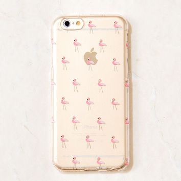 Clear Pink Flamingo Summer Beach iPhone 6S/ 6 case