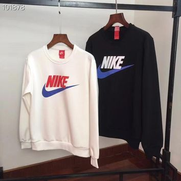 NIKE HOT SALE Round neck letters printed loose long sleeve sweater