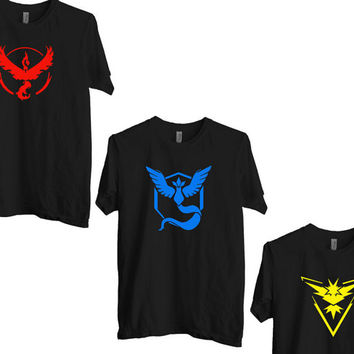 Pokemon Go T-shirt, Pokemon T-shirt, Unisex, Kids, Female T-shirt, Valor Team, Mystic Team, Team Instinct, Team Pokeball, Tee shirt,