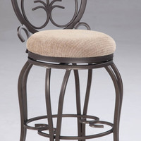 "Taupe 26"" Memory Return Swivel Counter Stool"