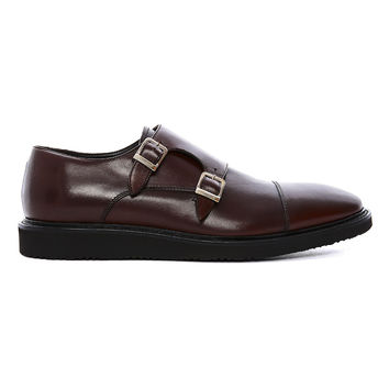 Californium-  Brown double monk strap