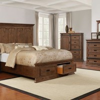 Queen Americana Brown Bedroom Set