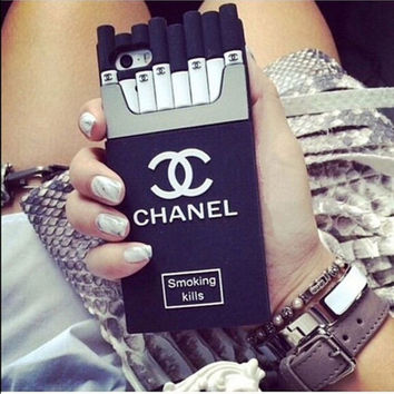 """Chanel""fashion hot sale iPhone  cases Tempered film  black"