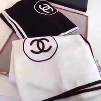 Chanel Women Fashion Cashmere Warm Scarf Scarves