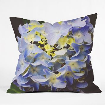 Allyson Johnson Hydrangea Flower Throw Pillow