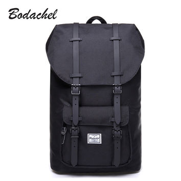 Bodachel Men Backpack School Bag Laptop Backpack Male Large Capacity High Quality Drawstring Bag Knapsack sac a dos homme