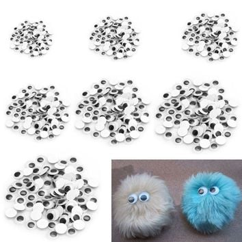 100PC Mix Color Eyelashes sticker Wiggly Wobbly Googly Doll Eyes Scrapbooking Crafts Hot