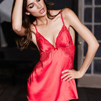 e7094de5018c9 Satin   Chantilly Lace Babydoll - Very Sexy - Victoria s Secret