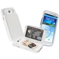 Fonerize FoneZafe Samsung Galaxy S3 Case Ultra Slim Wallet & Card Holder - White