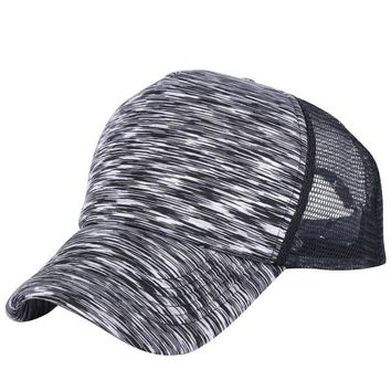 Sports Hat Cap trendy  2018 women men summer baseball cap casual hats sports sun hats adjustable polyester geometric striped design male female caps KO_16_1