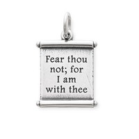 """For I Am With Thee"" Scroll Charm 
