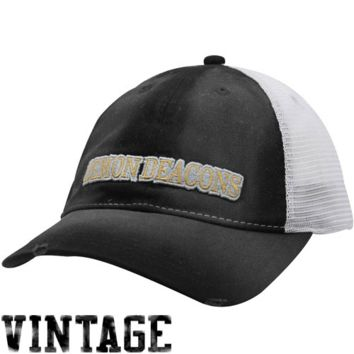 Nike Wake Forest Demon Deacons Youth Black Washed Trucker Hat - http://www.shareasale.com/m-pr.cfm?merchantID=7124&userID=1042934&productID=524886107 / Wake Forest Demon Deacons