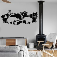Vinyl Wall Decal Nature Animals Elephant House Interior Stickers Unique Gift (ig4045)