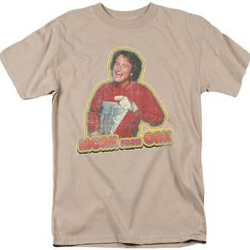 Mork and Mindy Retro TV Robin Williams Mork From Ork Men's T-Shirt