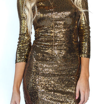 Gold Sequin Bodycon