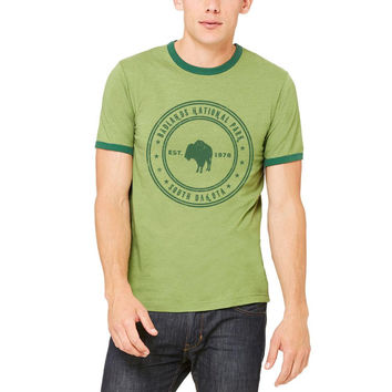 Badlands National Park Vintage Mens Ringer T Shirt