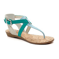 GB Style-Flashz T-Strap Sandals - Light Denim