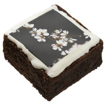 Sakura flowers brownie