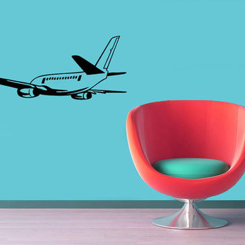 Wall Vinyl Decal Sticker Removable Home Decor Plane  Kid Room TK109