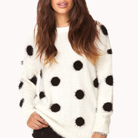Cozy Polka Dot Shag Sweater