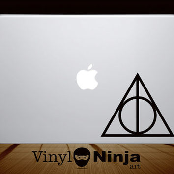 Harry Potter Deathly Hallows Symbol Inspired Vinyl Decal Sticker MacBook & Laptop FREE SHIPPING