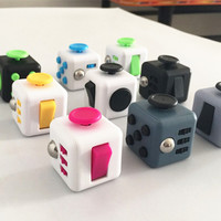 New Fidget Cube A Vinyl Desk Toy anti irritability to ease the pressure to focus dice cube box for girl boys Christmas gift