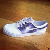 White And Purple Galaxy Janoski