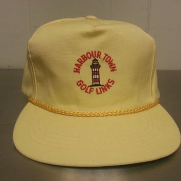 Vintage 80's Harbor Town Golf Limits Strap Back Hat New Without Tags NWOT Made By Town Talk Dad Hat Golf Cap