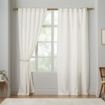 Brighton Matelasse Curtain – Stone White