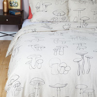 ModCloth Mushrooms That's Morel Like It Duvet Cover in Full, Queen