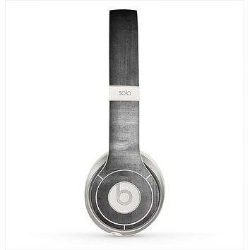 The Grungy Gray Panel Skin for the Beats by Dre Solo 2 Headphones