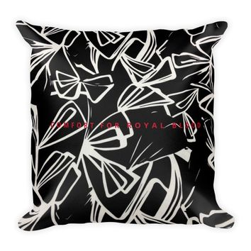 Blood of Medusa Dark Butterfly Square Pillow