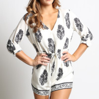 Peek-A-Boo Back Printed Romper