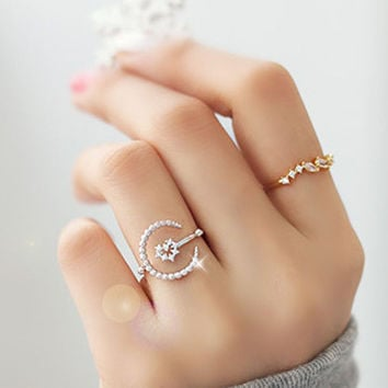 New Arrival Jewelry Stylish Shiny Gift Korean Accessory Hollow Out Metal Ring [6056995457]